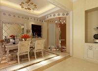 伟业大厦141平米三居室简欧风格装修效果图 (4)