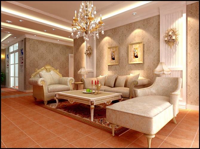 国际村公寓-112平米三居室简欧风格装修效果图 (4)