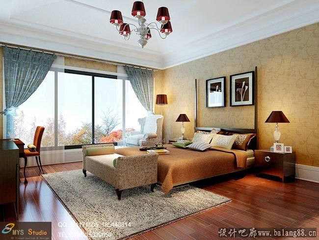 夏都府邸-121平米三居室欧式风格装修效果图 (5)