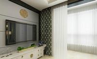 新汇华庭—88平米—两居室—中式古典风格装修效果图 (4)