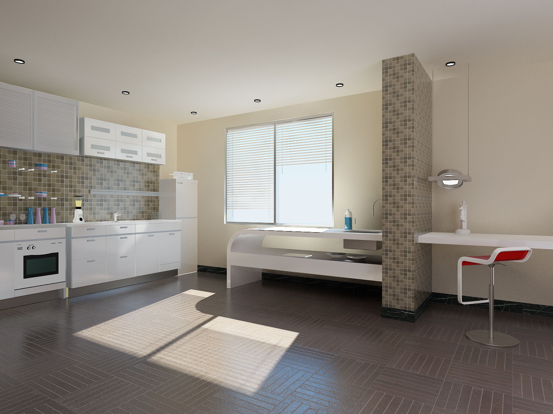 泰宁花园-107平米三居室现代简约装修效果图 (4)