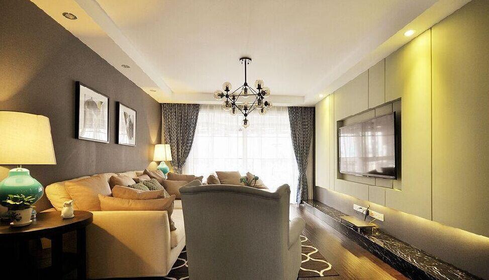 体坛小区-110平方米-三居室-现代风格装修效果图 (8)
