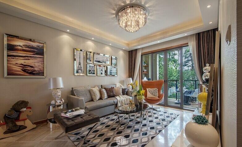西苑小区-96平方米-二居室-现代风格装修效果图 (6)