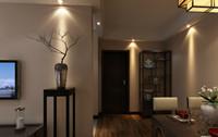 巴黎大街—70平米—两居室—现代中式风格装修效果图 (5)