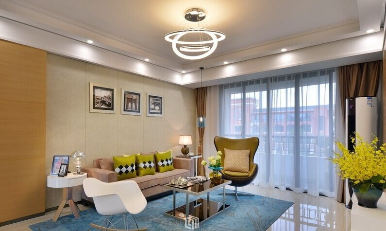 南苑小区-94平方米-二居室-现代简约风格装修效果图 (7)