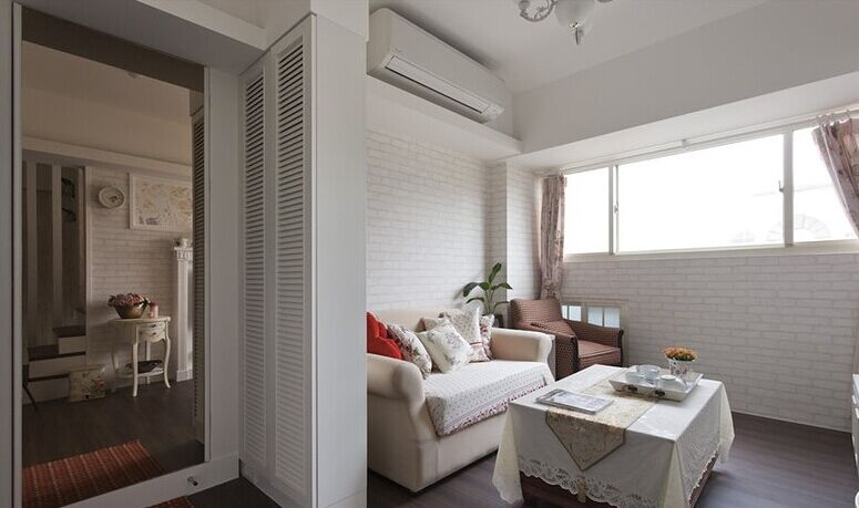 富民小区-96平方米-二居室-现代风格龙8国际pt老虎机效果图 (6)