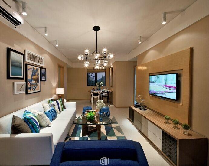 新汇华庭小区-101平方米-二居室-地中海风格装修效果图 (8)