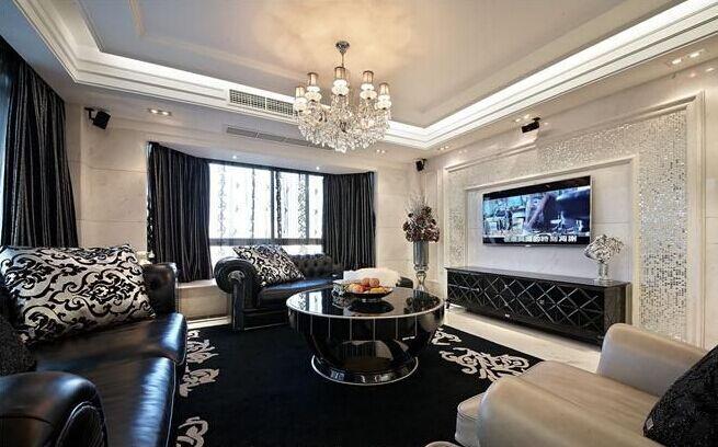 六合轩府小区-115平方米-二居室-现代风格装修效果图 (5)