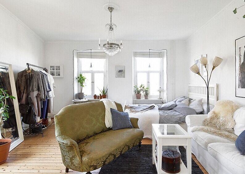巴黎大街小区-80平方米-二居室-田园风格装修效果图 (5)