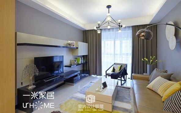 王辛小区-110平方米-二居室-现代风格装修效果图 (7)