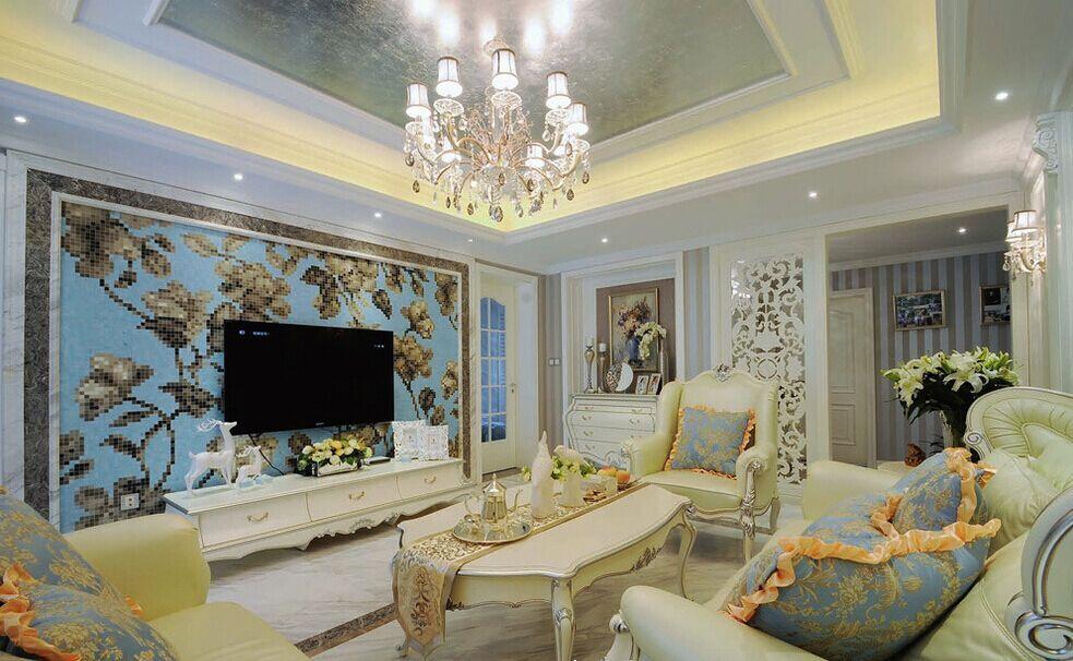 张辛小区-120平方米-三居室-美式风格龙8国际pt老虎机效果图 (7)