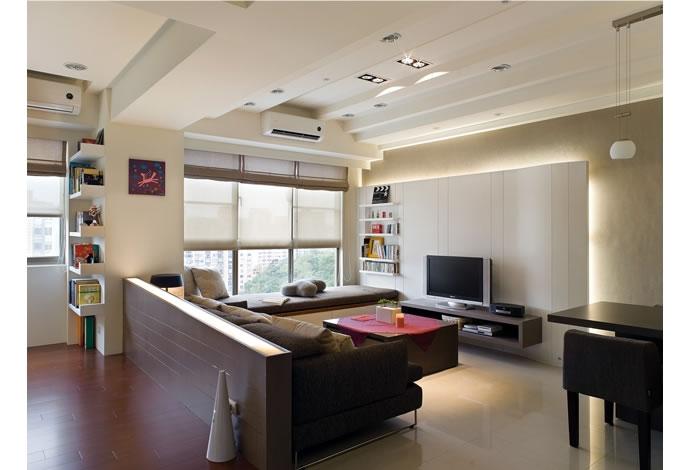 干坤阳光-90平米二居室简约风格龙8国际pt老虎机效果图 (5)