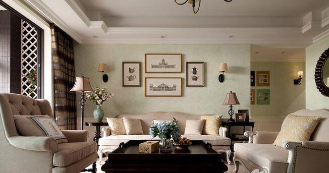金桂小区-94平方米-二居室-欧式风格装修效果图 (8)