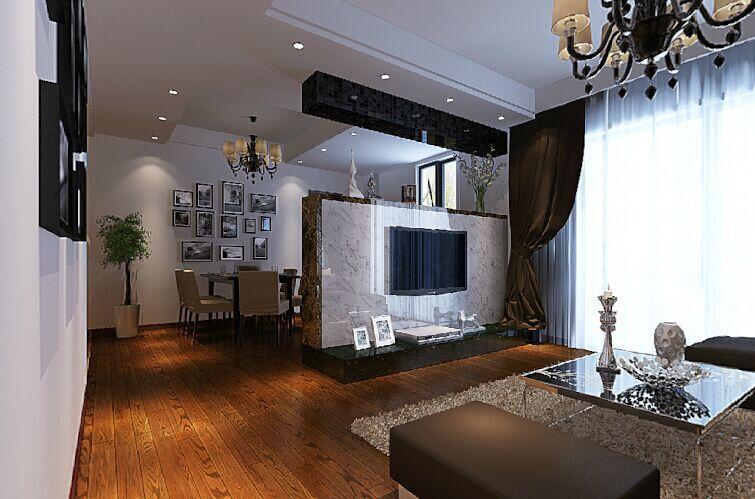 文华小区-82平方米-二居室-简欧风格装修效果图 (3)