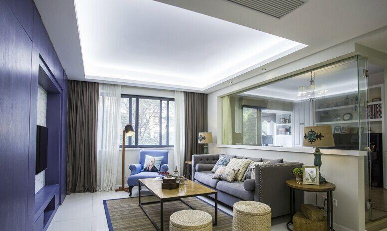 梅华小区-90平方米-二居室-现代风格装修效果图 (6)