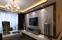 中铁人才家园—134平米—三居室—现代中式风格龙8国际pt老虎机效果图 (4)