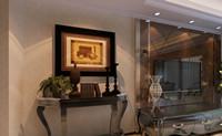 华厦水云间—138平米—三居室—新式古典风格龙8国际pt老虎机效果图 (4)