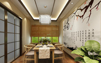 山南小镇—140平米—四居室—中式古典风格龙8国际pt老虎机效果图 (5)