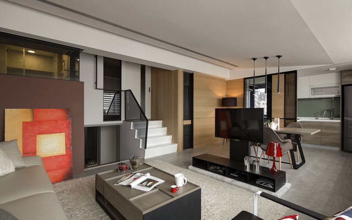 岭景小区-112平方米-三居室-现代风格装修效果图 (4)