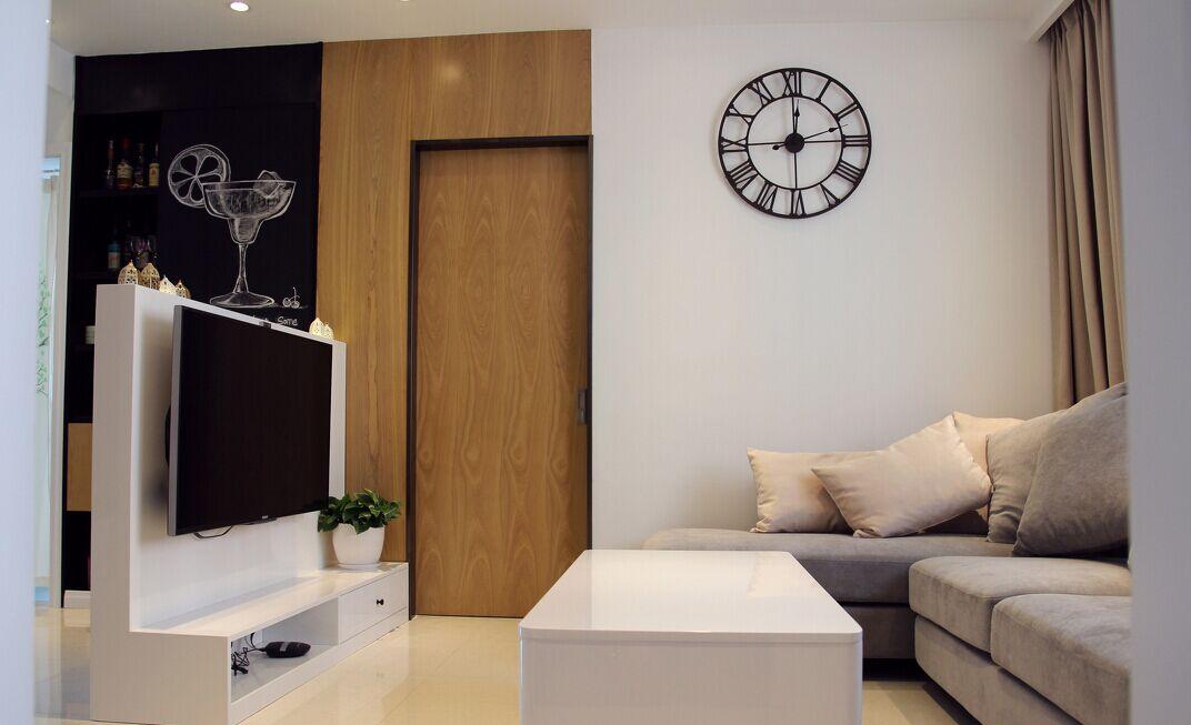 南旺小区-117平方米-三居室-现代风格乐虎国际登陆效果图 (5)