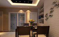 国贸阳光—119平米—三居室—现代中式风格装修效果图 (4)