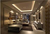 金博水岸—135平米—二居室—简欧风格龙8国际pt老虎机效果图 (5)