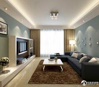 府西银谷-85平米-二居室-现代简约风格装修效果图 (3)