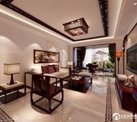 福莱花园-120平米-新中式风格装修效果图 (5)