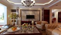 望庭国际—120平米—二居室—现代古典风格装修效果图 (5)