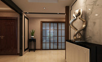 瑞丰苑—143平米—三居室—现代中式风格装修效果图 (4)