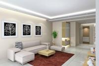 扬州天下-135平米-三居室-现代简约风格装修效果图 (3)