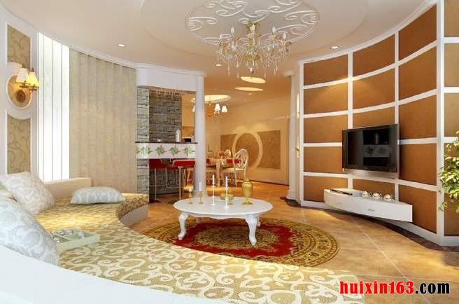 别墅装修装饰异型客厅