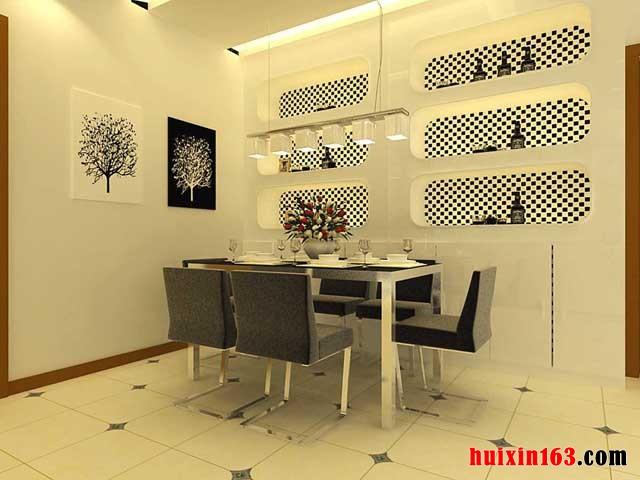 上图的房屋设计中,设计师巧妙的将马赛克瓷砖应用在了电视背景墙上
