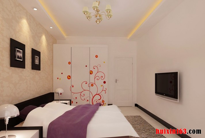雅致100平米平房卧室吊顶装修效果图