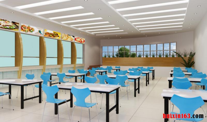 学校食堂装饰装修效果综述(8)