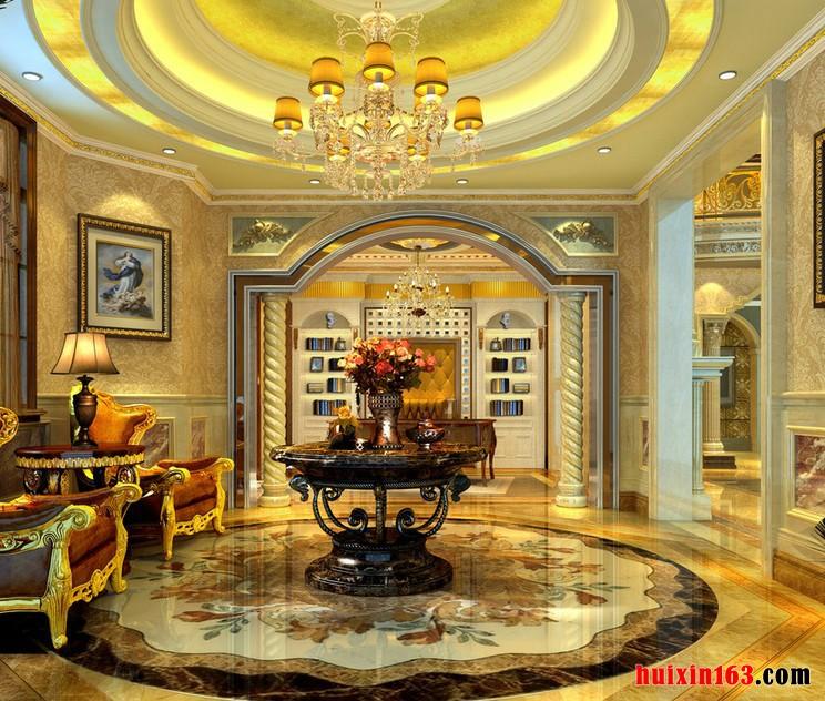 装修装饰等工装中,都选用各类别的高档材质,进而创造着欧式古典风格