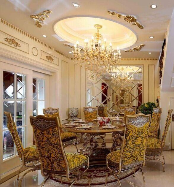 精装跃层美式风格餐厅142平米吊顶设计效果图