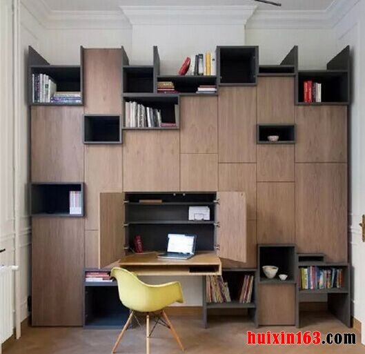 新中式风格室内书房单个柜子